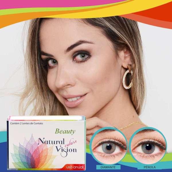 Lentes de Contato Natural Vision Colors Beauty Anual com Grau