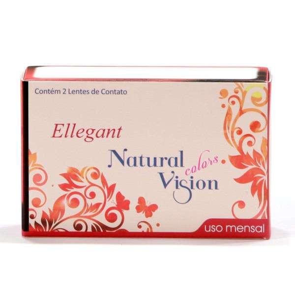 Lentes de Contato Natural Vision Colors Ellegant Mensal com Grau