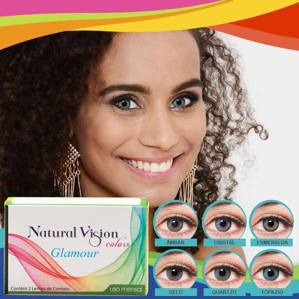 Lentes de Contato Natural Vision Colors Glamour Mensal